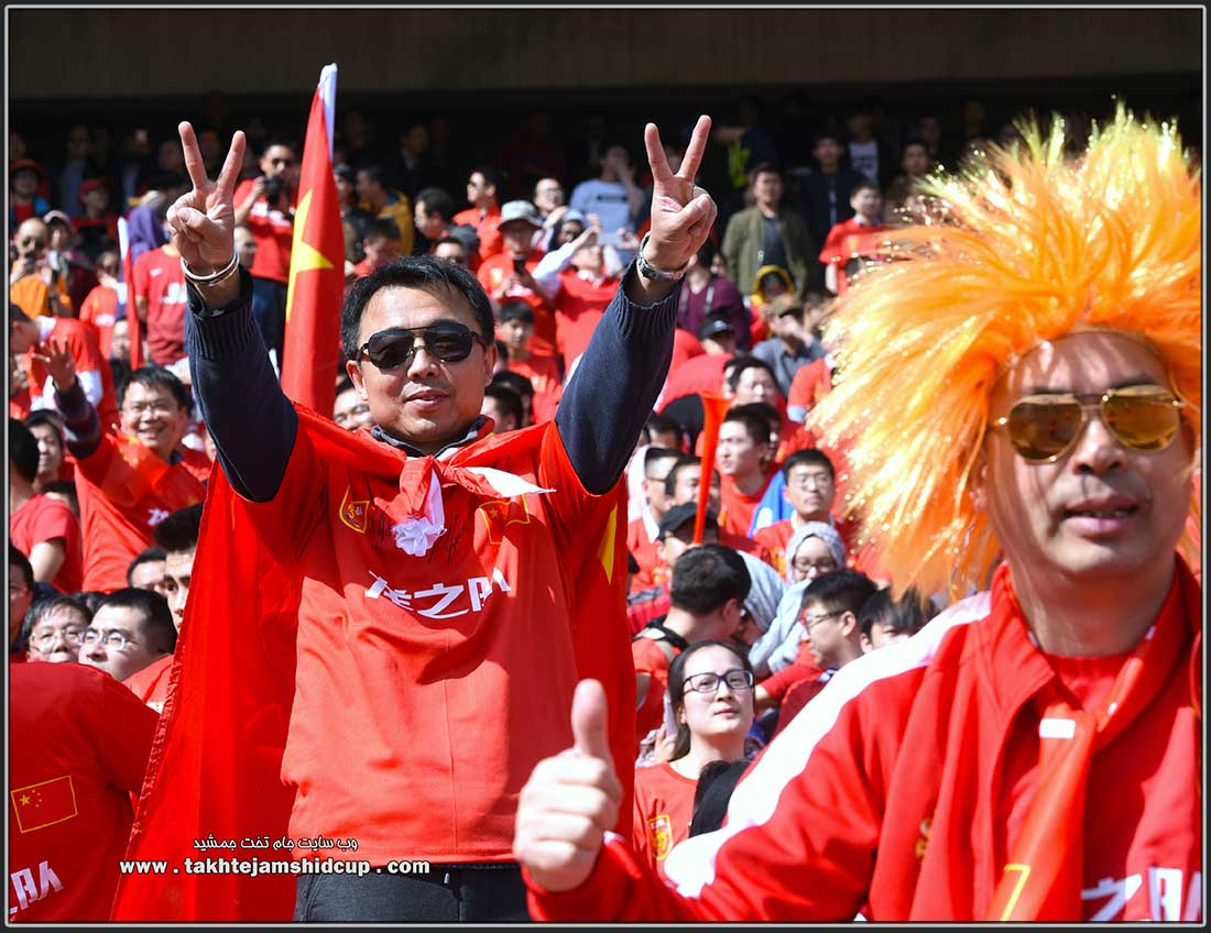 Chinese football fans  中国足球迷