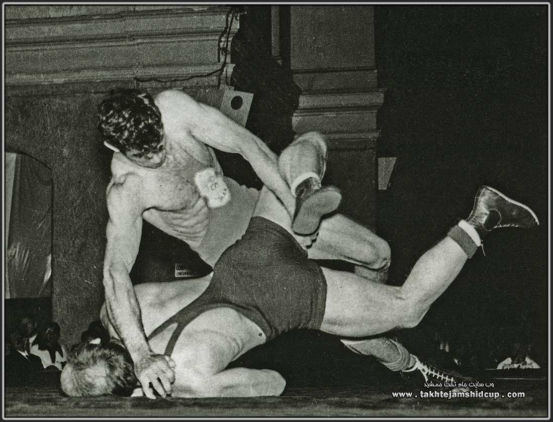 Emam-Ali Habibi & Olle Anderberg Wrestling at the 1956 Summer Olympics 67 kg freestyle