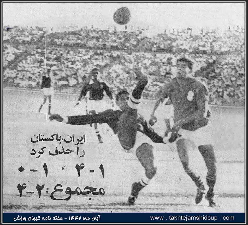 Iran and Pakistan, the 1964 Tokyo Olympic qualifier
