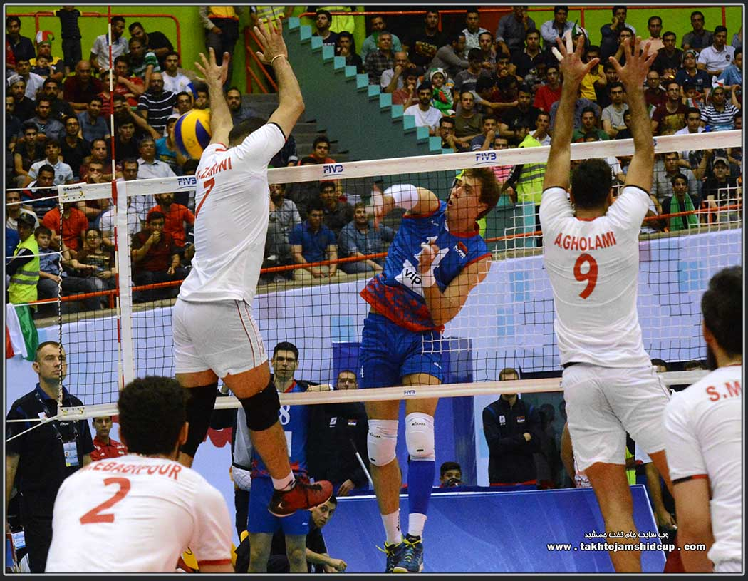 Aleksandar Atanasijevic vs Hamzeh Zarini Iran vs Serbia 2016 FIVB Volleyball World League  الکساندر آتانا سویچ و حمزه زرینی