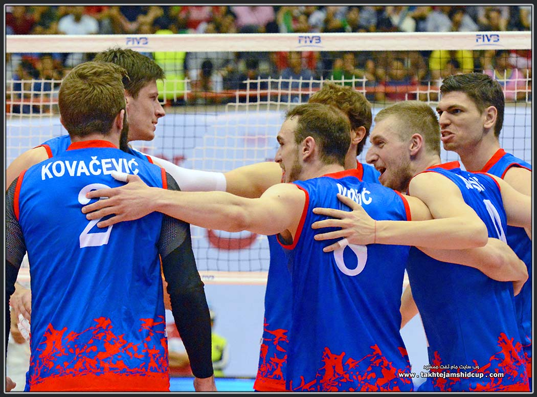 SERBIA's national volleyball