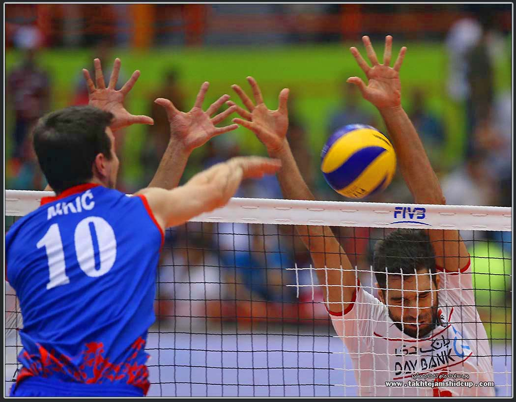 Milos Nikic & Mohammad Mousavi Iran vs Serbia 2016 FIVB Volleyball World League