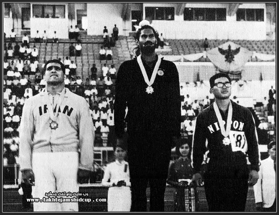 Asian Games 1966 Shot Put Joginder Singh ( India ) Gold - Yoshihisa Ishida ( Japan ) Silver - Jalal Keshmiri ( Iran ) Bronze