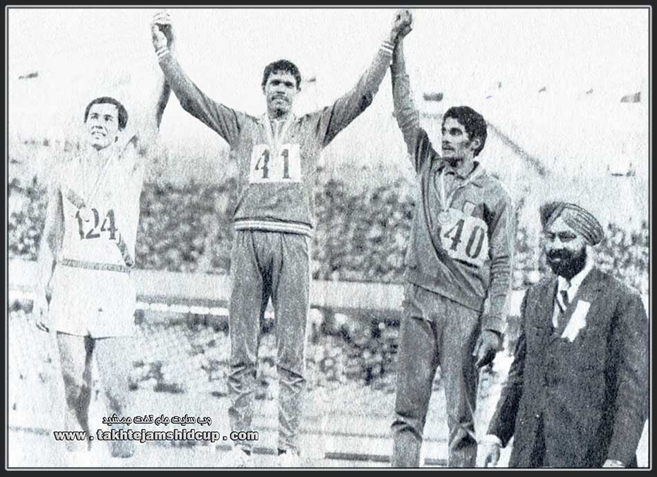 Decathlon, Tehran Asian Games 1974 : Vijay Singh Chauhan ( India ) - Junichi Onizuka ( Japan ) - Suresh Babu ( India )