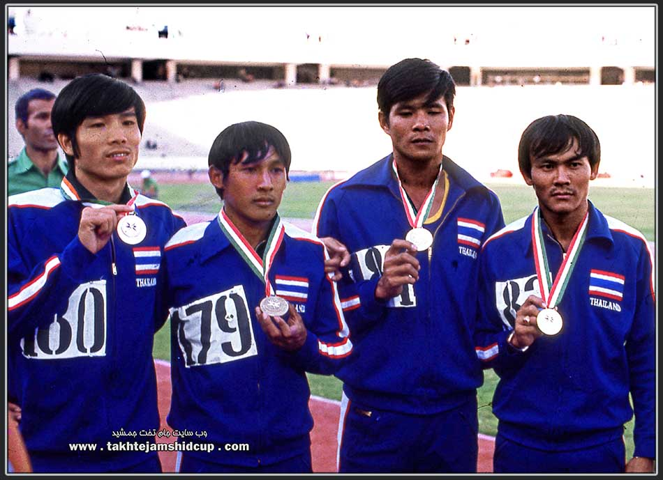 Running 4 × 100 m relay team , Tehran Asian Games 1974