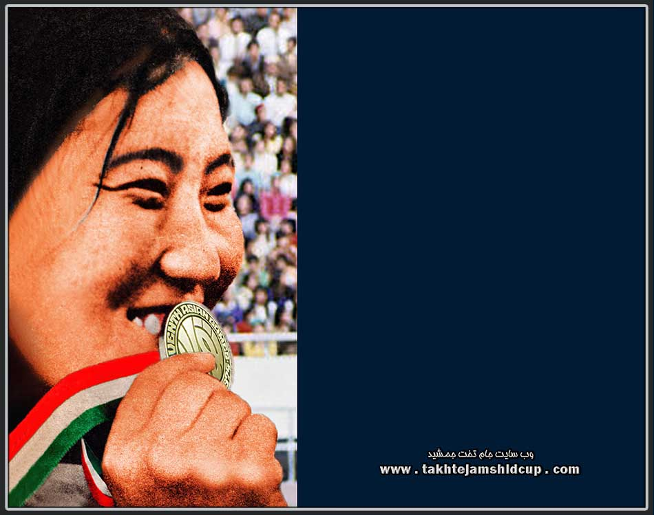 Paik Ok-ja ( South Korea ) champion Shot put asian games 1974