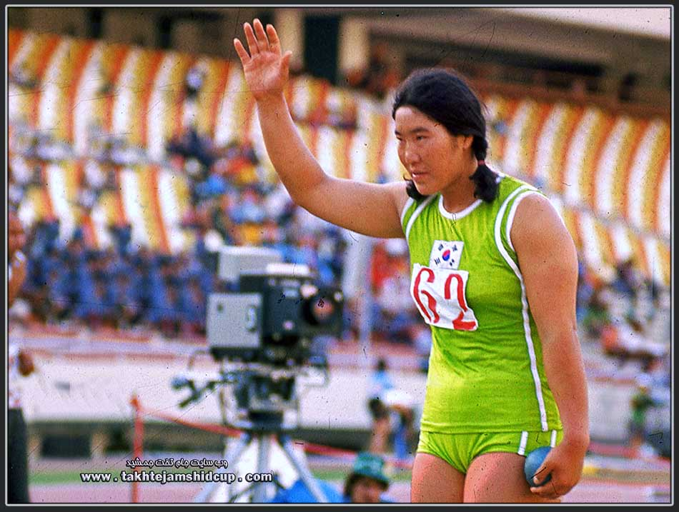 Paik Ok-ja  shot put athlete in South Korea