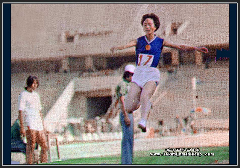 Xiao Jieping Chinese Women athletes , long jump champion in 1974 Tehran Asian Games 肖吴阶平中国女运动员,跳远冠军,1974年德黑兰亚运会 Xiào wújiēpíng zhōngguó nǚ yùndòngyuán, tiàoyuǎn guànjūn,1974 nián déhēilán yàyùn huì